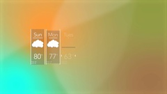 Generic Cloudy Overcast News Weather Weekly Forecast Interface Stock Footage