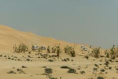 Jeeps traditional Safari Dune Bashing tourists Oman Ubar Desert Rub al Khali 8 Stock Photos
