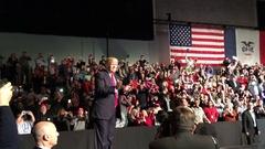 Donald Trump President Elect Thank You Tour Des Moines Iowa Stock Footage