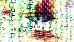 Streaming data abstraction with text and video flux - HD Stock Footage Stock Footage