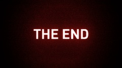 Digital Movie Credit Roll - The End Stock Footage