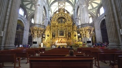 Basilica of Guadalupe interior - Mexico City, Mexico Stock Footage
