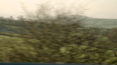Drive Past Countryside Stock Footage