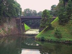 Seimon Ishibashi stone bridge of main gate, Doubled bridge Stock Footage