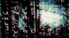 Traveling through a maze of streaming data - HD Stock Video Stock Footage
