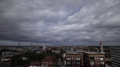Time lapse video of Savannah Georgia skyline. Stock Footage