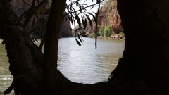 Katherine Gorge and River in Northern Australia Stock Footage