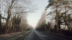 Drive On Straight Country Road UK Stock Footage