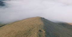 Aerial View Of Chechnya, the Caucasus Mountains, above the clouds Stock Footage