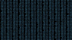 Randomized Digits Screensaver, Blue (60fps) Stock Footage