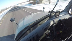 Semi-Truck Interior Driving Time Lapse | Rural Montana, USA Stock Footage