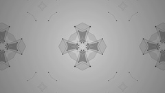 Minimalistic symmetrical abstract motion graphic background animation Stock Footage