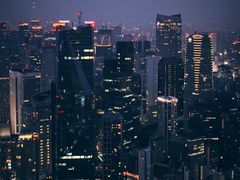 Cityscape of Tokyo City at night, Tokyo Stock Footage