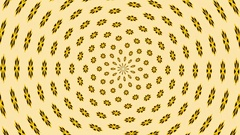 Fractal flower pattern changing colour Stock Footage