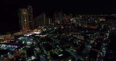 Sunny Isles Beach FL at night Stock Footage