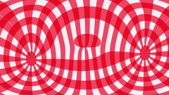Red gingham pattern ripples Stock Footage