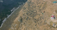 Aerial View Of Chechnya, the Caucasus Mountains, the ancient city Stock Footage