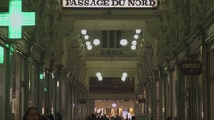 BRUSSELS, BELGIUM – Passage du Nord Gallery Stock Footage