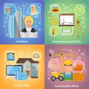 Architect 2x2 Design Concept Stock Illustration