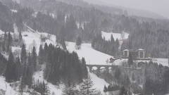 Typical winter landscape in the Austrian Alps Stock Footage