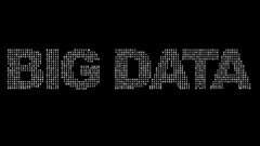 BIG DATA graphic made from changing binary code. Stock Footage