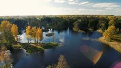 Colorful autumn landscape.Nature background Stock Footage