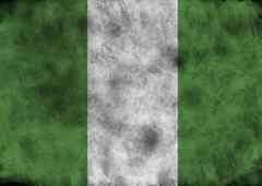 Grunge Nigeria flag. Kuvituskuvat