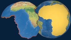Africa tectonic plate. Topography Stock Footage
