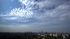 Clouds moving above Bangkok city landscape, Thailand, time lapse Stock Footage