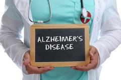 Alzheimers disease Alzheimer Alzheimer's ill illness healthy health young d.. Stock Photos