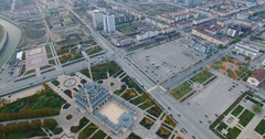 Aerial View Of Chechnya Grozny center Stock Footage