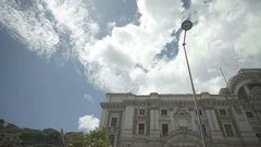 Italian city with nice old building Stock Footage