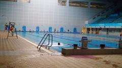 People swim in the swimming pool Stock Footage