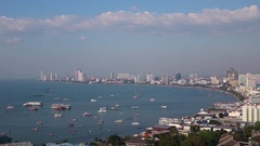 Overlooking On Thailand City Time Lapse Stock Footage