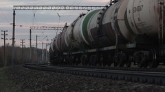 Transportation tank cars with oil Stock Footage