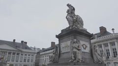 BRUSSELS, BELGIUM – Place de Martyrs Stock Footage