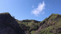 Running Clouds On The Top Of The Mountain on Bali, Indonesia Stock Footage