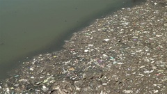 Stagnant polluted water in Buenos Aires Stock Footage