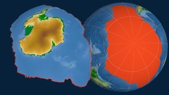 Antarctica tectonic plate. Physical Stock Footage