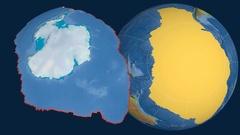 Antarctica tectonic plate. Topography Stock Footage