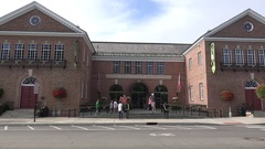 The Baseball Hall of Fame, Cooperstown, Otsego County, New York, United States. Stock Footage