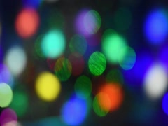 Abstract background of moving colored glowing circles Stock Footage