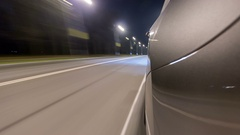 Timelapse Driving at high speed through the streets timelapse drivelapse Stock Footage