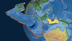 Banda Sea tectonic plate. Natural Earth Stock Footage