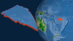 Balmoral Reef tectonic plate. Physical Stock Footage