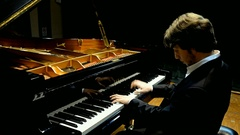 Young pianist classical execution-Haydn1 Stock Footage
