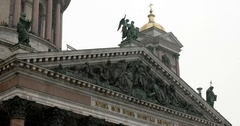 Bas-relief of St. Isaac's Cathedral, Saint Petersburg, Russia Stock Footage