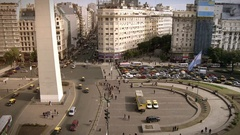 Buenos Aires and the Obelisk Stock Footage