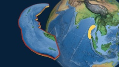 Burma tectonic plate. Natural Earth Stock Footage
