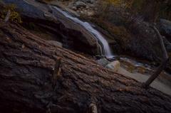 5K MoCo Tracking Timelapse of Fall Foliage Waterfalls in Eastern Sierra Stock Footage